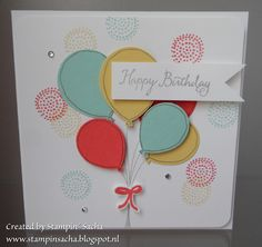 Stampin' Sacha - Stampin' Up! - Occasions Catalog 2016 - Balloon Celebration - Balloon Bouquet Punch