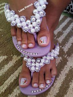 26 Ideias de Unhas Decoradas dos Pés Cute Toe Nails, Cute Toes, Smell Good, Face And Body, Nail Art, Stylish, Hair Styles, Makeup, Pretty