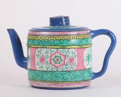 18th C. Yixing Zisha Teapot W/ Enameled