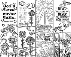 Printable Colouring Bookmarks with Quotes, Coloring Bookmark ...