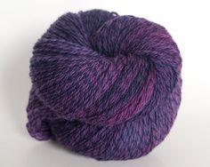 Fingering weight, sock yarn, merino wool, plum tweed