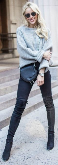 15 Ways to Wear Thigh-High Boots This Winter | High boots, Thighs ...