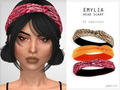 The Sims 4 Emylia Head Scarf Packs The Sims 4, Die Sims 4 Packs, Sims 4 Cas, My Sims, Sims Cc, Sims Four, Janis Joplin, The Sims 4 Bebes, Choker Bodysuit
