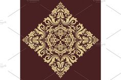 Damask Patterns, Stencil Painting, Arabesque, Vector Pattern, Stencils, Oriental, Ornaments, Abstract, Floral