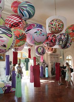 Pucci balloons. @Kristin Winters