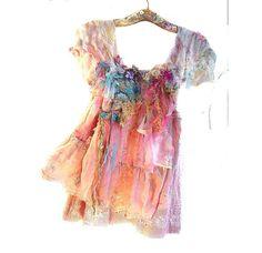 Beautiful Unique Art to Wear Cotton Tunic SWEET  by Paulina722, $245.00