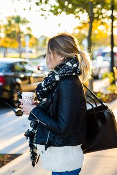 Scarf and Leather, maternity style