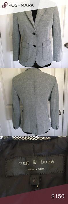 Rag & Bone Blazer Black and white blazer. Please see pictures for wear. rag & bone Jackets & Coats Blazers
