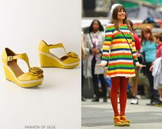 Ridiculously cute! Anthropologie Lemon Stick Wedges - $148.00 Worn with:American Apparel beret,Vintage coat,Marc by Marc Jacobs sweater,Mulberry for Target bag, (similar)Kohl's tights Look for Less:Steve Madden wedges