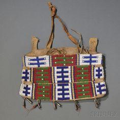 Plains Beaded Hide Possible Bag