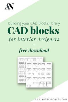 CAD Blocks for Interior Designers - Audrey Noakes Modern Apartment Design, Studio Apartment Layout, Studio Apartment Decorating, Modern Apartments, Studio Apt, Studio Apartments, Small Studio, Interior Design Renderings, Interior Design Resources
