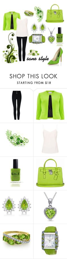 """Untitled #61"" by sano15 ❤ liked on Polyvore featuring Windsmoor, Ted Baker, Atelier Cologne, Lauren B. Beauty, Michael Kors, Allurez, Miadora and Fendi"