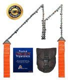 Pocket Chainsaw w/ Free Belt Pouch - MaVè Survival's 24-Inch PREMIUM Hand Powered Chain Saw Ideal For Your No-Worries Bug-Out-Bag/Disaster/Prepper Bag - BRIGHT Handles Keeps Saw Visible - Your Mate In An Emergency - Eco-Friendly & Portable w/Best Lifetime http://www.amazon.com/Pocket-Chainsaw-Free-Belt-Pouch/dp/B00PO8SBLS