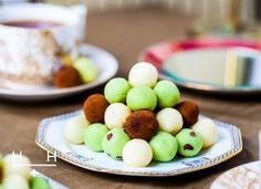 White chocolate & coconut mint truffles #TheArtofEatingWell