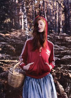 Cintia Dicker as Red Riding Hood