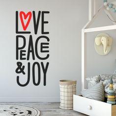 Stickers Love Peace & Joy Optimistick