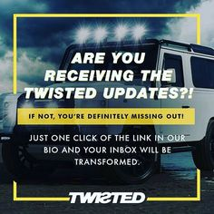 Make sure you're not missing out! -  #TwistedDefender #Defender #LandRover #Style #Email #Marketing #EmailMarketing #Newsletter #4x4 #LandRoverDefender #Handmade #Handcrafted #Customised #Modified #Iconic #ModernClassic #SignUp