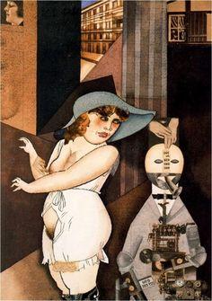 Daum épouse son pédant automate, Georges Grosz, 1920