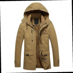 46.62$  Buy now - http://alilhm.worldwells.pw/go.php?t=32762775441 - Winter Jackets Mens 2016 New Slim Fit Snow Parkas Warm Thick Fashion Hooded Men Coats Military Jacket Plus Size Outerwear W144 46.62$