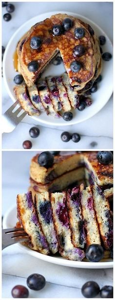 The BEST Blueberry Pancakes EVER! Everyone begs for this recipe each and every time I make these! They will FLY off your table!
