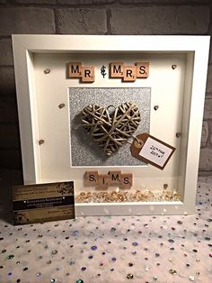 wedding scrabble frame / wedding gift / by Kayleighskeepsake