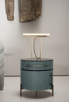 Hubble lamp | Baxter Baxter Furniture, Bed Furniture, Contemporary Side Tables, Bed Table, Night Table, Bedside Cabinet, Unique Lamps, Small Tables, Cabinet Design