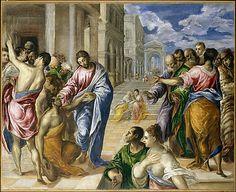 El milagro de Cristo sana a un ciego El Greco Museo de Arte Metropolitano