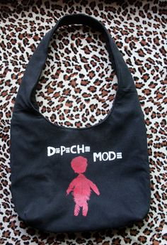 DEPECHE MODE  Upcycled Rock Band Tshirt Boho Purse  by evilrose, $33.00