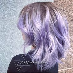Playing With Purple: Image Gallery of Gorgeous Purple Hair Color - Pastel Hair - Hair Designs Bright Hair Colors, Hair Color Purple, Silver Purple Hair, Short Purple Hair, Pastel Purple Hair, Soft Purple, Gray Hair, Grey Hair With Purple, Pastel Colored Hair