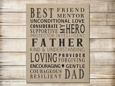 PRINTABLE Father's Day Gift From Daughter Fathers Day