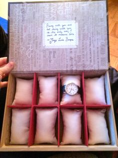 DIY Watch Box omg. I'm totally doing this for bandar for Christmas!