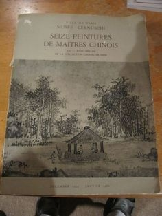 CHINESE PAINTINGS CHIANG ER SHIH 12-18 CENT. PARIS CERNUSCHI MUSEUM 1959-60!M