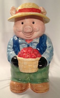 Oliver Oink Cookie Jar made in Mexico by Treasure Craft