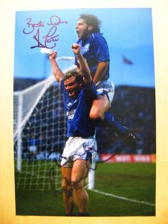 ALLY McCOIST & ROBERT FLECK HAND SIGNED AUTOGRAPH 12X8 PHOTO GLASGOW RANGERS COA Rangers Football, Rangers Fc, Football Pictures, Great Team, No One Loves Me, Glasgow, First Love, Soccer, Hero