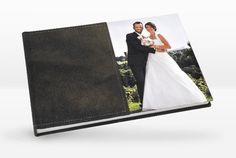 Exklusives Fotobuch (20x30 cm im Querformat) mit individuell gestaltbaren Ledereinband. Ausgearbeitet auf echtem Fotopapier, Bütten- oder Metallicpapier. Polaroid Film, Leather Binder, Thanks Card, Place Cards, Card Wedding, Getting Married