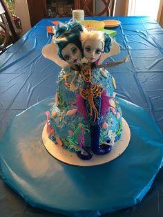 Monster high mermaid cake