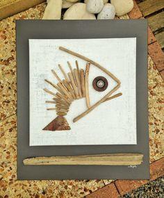 """Le grand poisson """"Artika"""" en bois flotté : Autres art par les-toiles-de-mer-de-syl"""