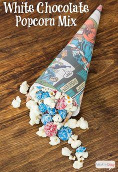 Atta Girl Says | White Chocolate Popcorn Snack Mix | http://www.attagirlsays.com