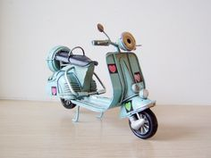 Sky blue Vespa scooter miniature with by AkatosCollectibles, $22.50