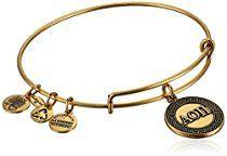 Alex and Ani Sorority Alpha Omicron Pi Expandable Wire Bangle Bracelet