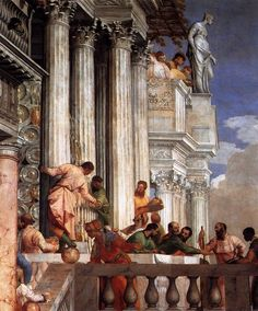 Paolo Veronese  Marriage at Cana & details  1563