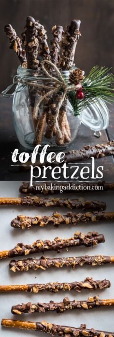 Are you looking for a last minute treat or homemade gift that everyone will love? Toffee Pretzels are IT. You need just three ingredients, and a festive jar or bags - that's it!