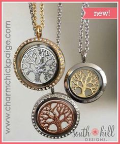 Tree of LIFE! To buy this or any South Hill Designs products, visit southhilldesigns.com/locketlust