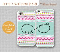 Best+friends+infinity+and+Aztec+iPhone+4/4s+Case+by+BlessedBazaar,+$17.99