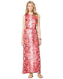 MICHAEL Michael Kors MICHAEL Michael Kors  Snake-Print Maxi Dress