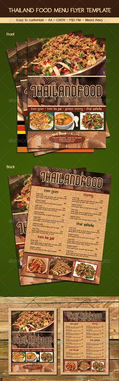 Thailand Food Menu Flyer Template