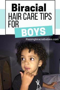 Looking for tips on how to do your mixed son's hair? Check out this complete guide to biracial boy hair care! You'll find tips for cleansing, detangling, products, and styling! care style The Beginners Guide To Biracial Boy Hair Care Mixed Curly Hair, Mixed Hair Care, Curly Hair Tips, Curly Hair Care, Hair Care Tips, Natural Hair Care, Curly Hair Styles, Mixed Boys Haircuts, Boys Haircuts Curly Hair