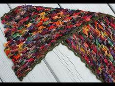 DIY Colorful Crochet Wool Scarf