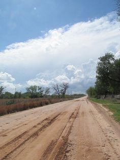 A random dirt road that looked cool with all of the clouds in the sky