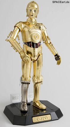 Star Wars: C-3PO - Deluxe Metall Figur, Fertig-Modell, http://spaceart.de/produkte/sw025.php